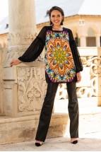 Bluza Lunga  din Matase Naturala Mandala