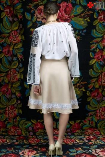 Ie Traditionala Romaneasca Maneca Lunga Motivul Incret la Fir