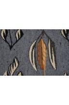 Carpeta Traditionala Romaneasca Tesuta Manual din Lana, Motivul Cenusiu, Marime 45X42