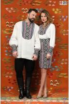 Camasa Etno Barbati Tip Ie Populara cu Motive Traditionale