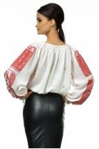 Ie Traditionala Romaneasca Maneca Lunga Cusuta Manual Motivul Altita Rosie