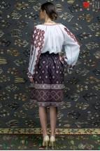 Ie Traditionala Romaneasca Maneca Lunga Motivul Geometric