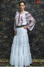 Ie Traditionala Romaneasca Maneca Lunga Motivul Coarnele Berbecului