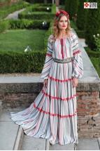 Rochie Boho Populara Stilizata cu Motive Traditionale