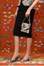 Rochie Midi cu Corset Floral Brodat