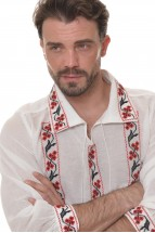 Ie Barbateasca Traditionala Romaneasca cu Maneca Lunga Motivul Sarbatoare