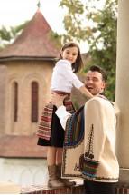 Fustă Semicloș cu Oprege Pentru Fetiță - Tradiție