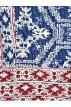 Bundita Midi Folk de Bucovina Traditionala Romaneasca, din Jacquard Tesut cu Motive Etnice