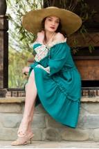 Rochia Stilizata Tamara Verde