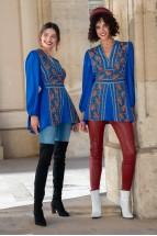 Bluza lunga Alesia Albastru Regal
