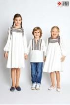 Camasa Baieti Stilizata cu Motive Romaneșta Tip Ie, de Oras 6-12 ani