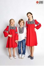 Camasa Ie Baietel Etno, Stilizata cu Motive Romanesti 6-12 ani