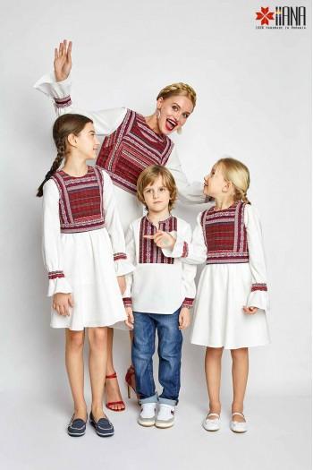 Camasa Copii Ie Romaneasca Voinicel 6-12 ani Stilizata