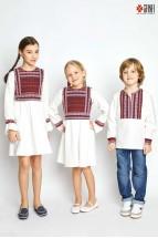 Camasa Copii Ie Voinicel 6 luni - 5 ani Stilizata Modern cu Motive Romanesti